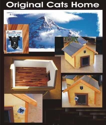 luxus katzenhaus modern anthrazit wintertauglich katzenklappe. Black Bedroom Furniture Sets. Home Design Ideas