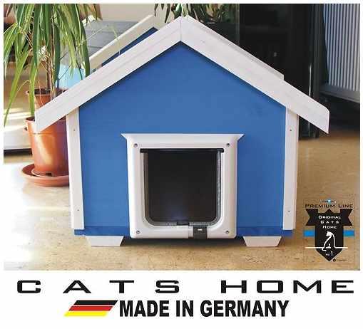 luxus katzenhaus blue haven outdoor wetterfest mit. Black Bedroom Furniture Sets. Home Design Ideas