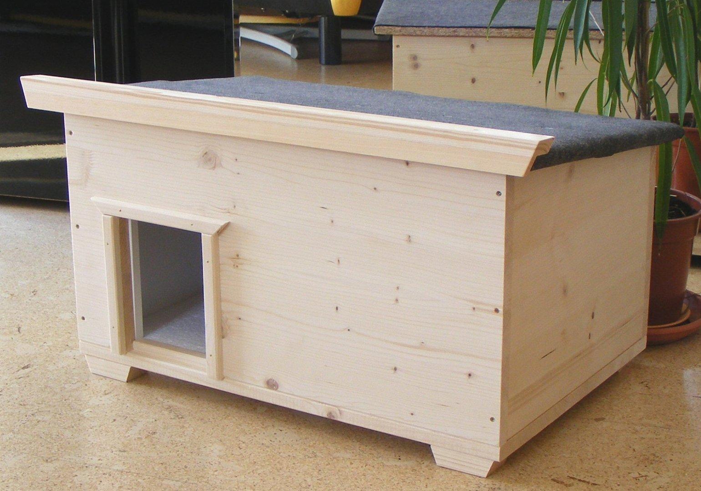 Katzenhaus IDEAL bodenisoliert für den Outdoorbereich