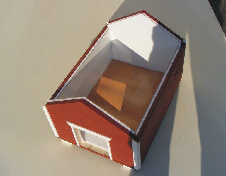 luxus katzenhaus winter schwedenrot vollisoliert f r draussen. Black Bedroom Furniture Sets. Home Design Ideas