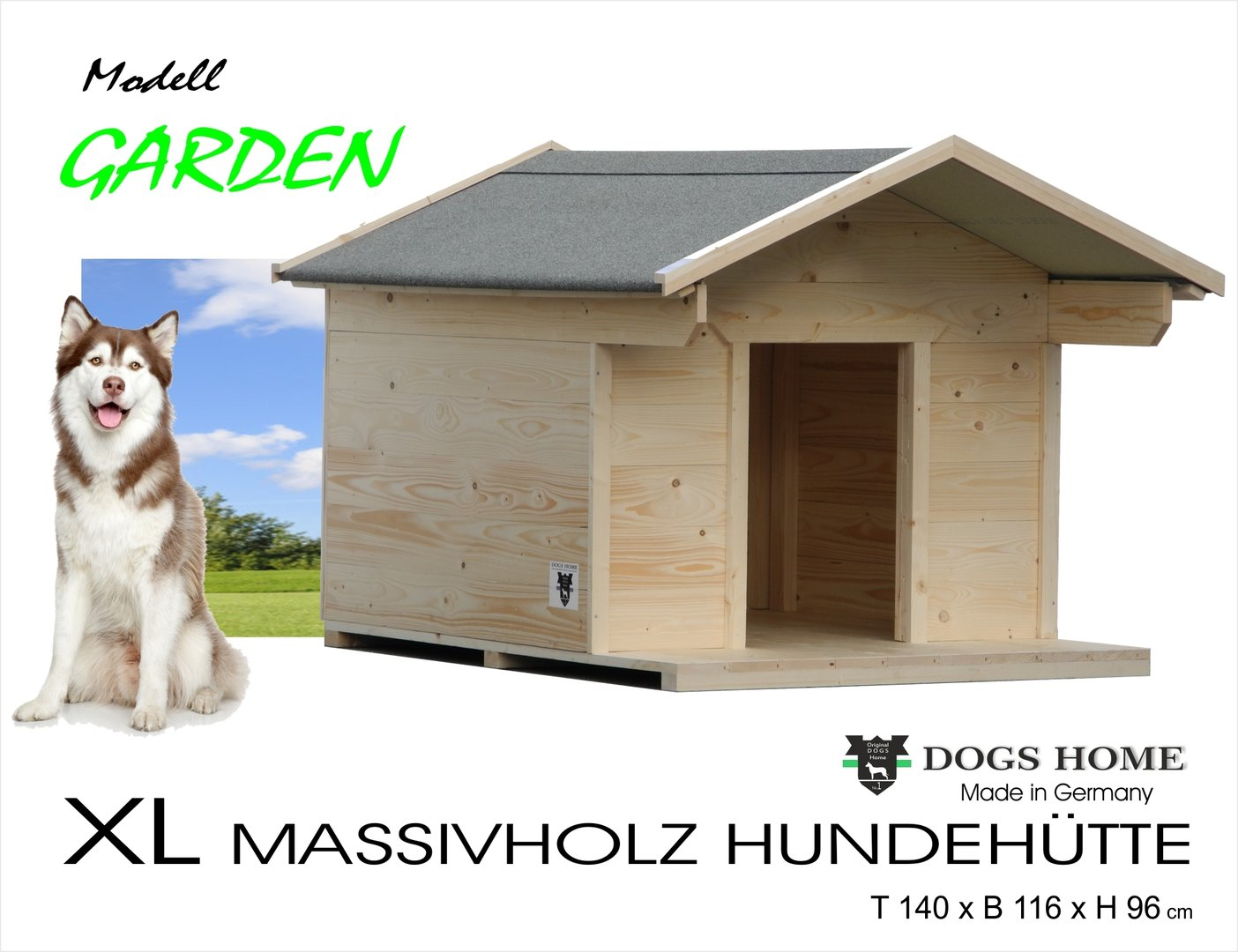 dogshome hundehütte garden xl outdoor wetterfest