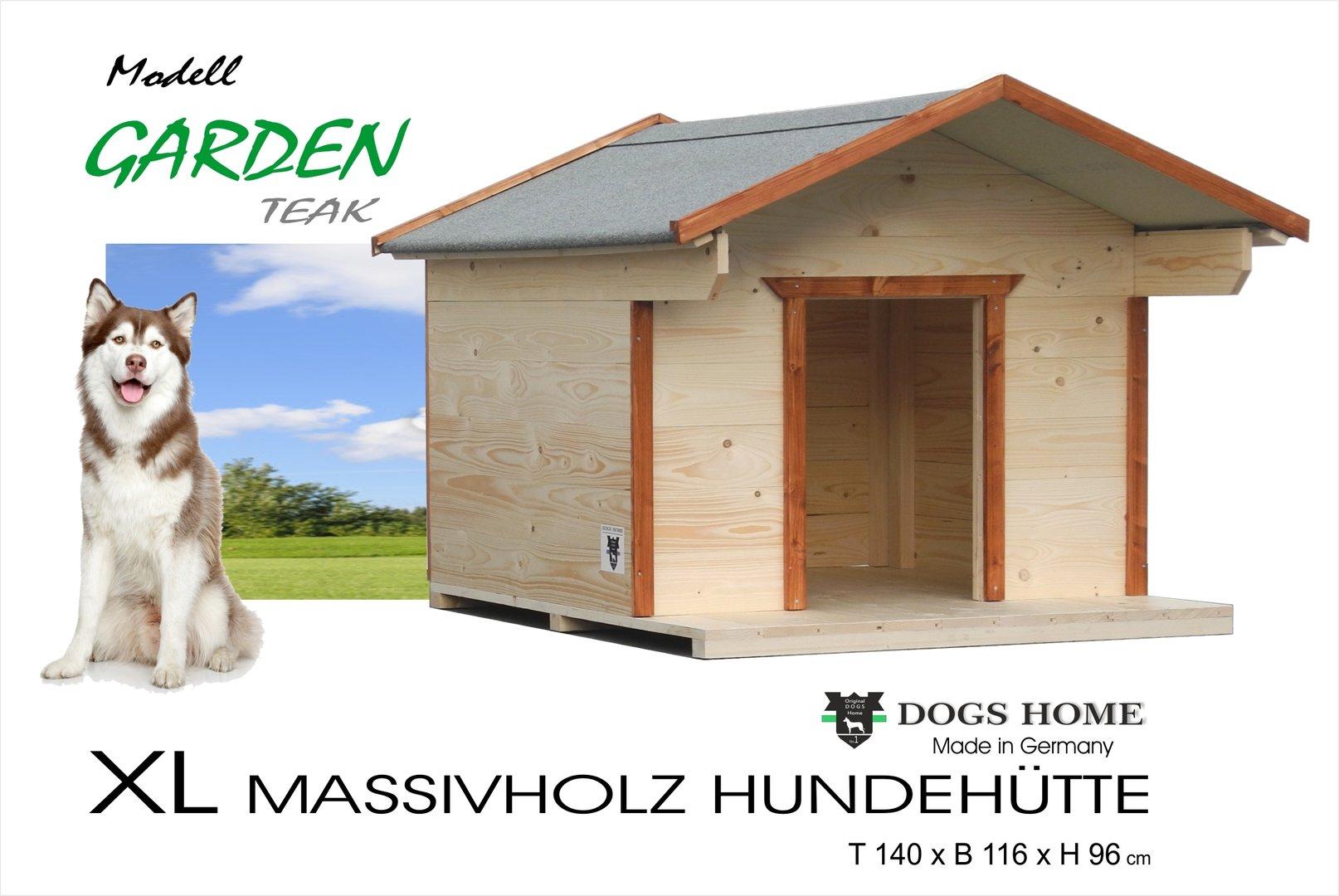 dogshome hundehütte garden teak xl outdoor wetterfest