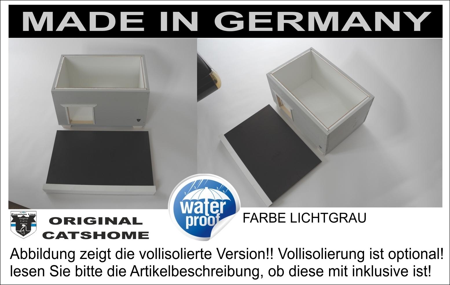 wetterfestes katzenhaus design lichtgrau boden isoliert f r drau en. Black Bedroom Furniture Sets. Home Design Ideas