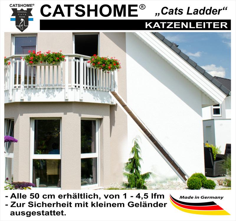 katzentreppe katzenleiter cats ladder wetterfest 100 450 cm. Black Bedroom Furniture Sets. Home Design Ideas