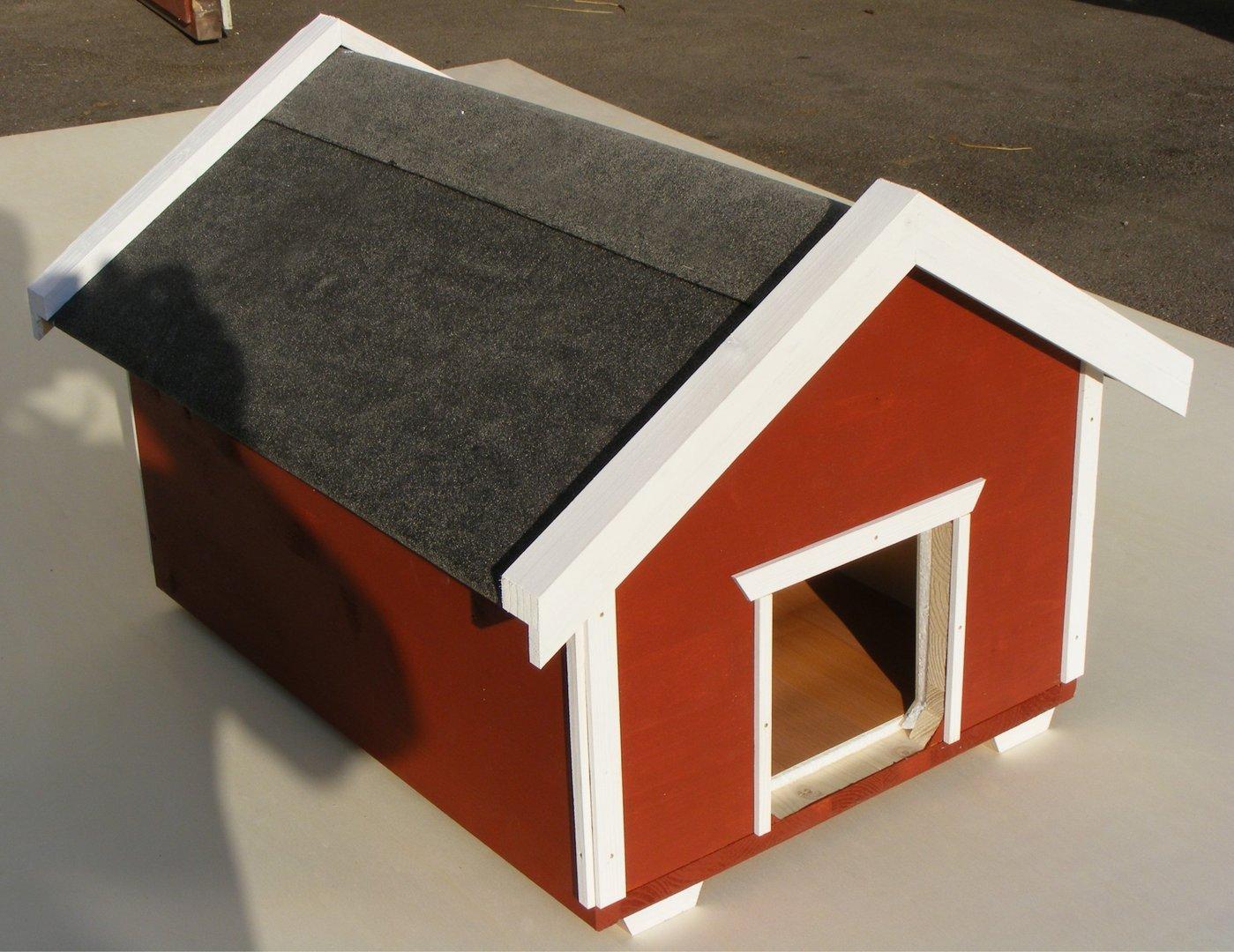 luxus katzenhaus spring schwedenrot wetterfest. Black Bedroom Furniture Sets. Home Design Ideas
