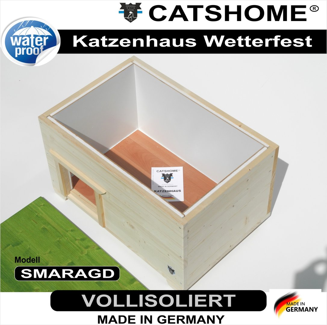 katzenhaus design voll isoliert smaragd f r drau en. Black Bedroom Furniture Sets. Home Design Ideas