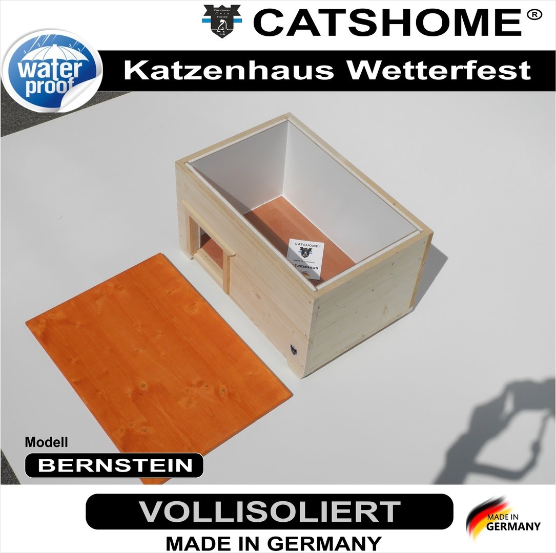 wetterfestes katzenhaus design voll isoliert. Black Bedroom Furniture Sets. Home Design Ideas