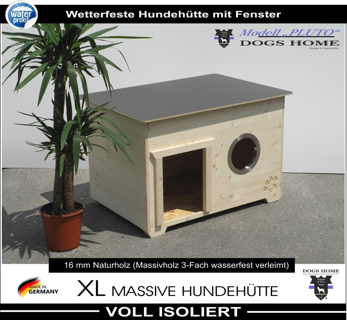 dogshome hundeh tte pluto mit fenster 100 l outdoor. Black Bedroom Furniture Sets. Home Design Ideas