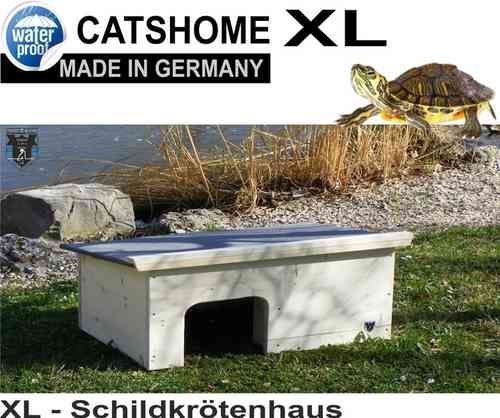 XL Schildkrötenhaus WOODY 90 x 48 x 35 cm - Made in Germany