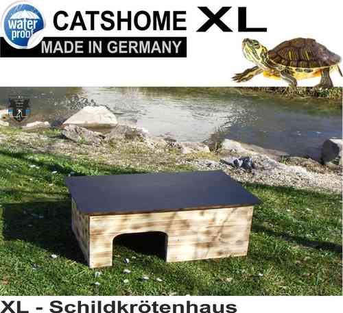 Schildkrötenhaus FLAME 86 x 46 x 32 cm - Made in Germany