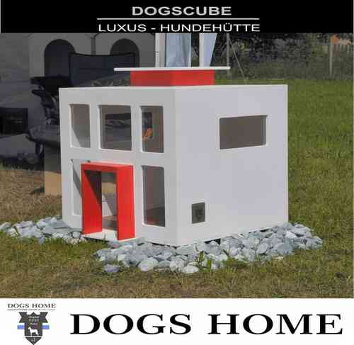 Exklusive Design Luxus Hundehütte DOGS CUBE M Outdoor Hundehaus