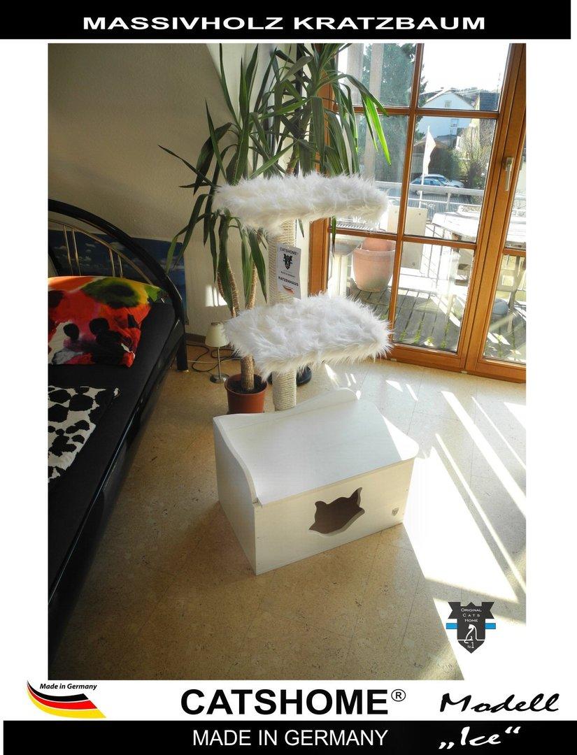 Design Kratzbaum Aus Holz Und Wellpappe: Luxus Design Kratzbaum Katzenbaum Massivholz Ice