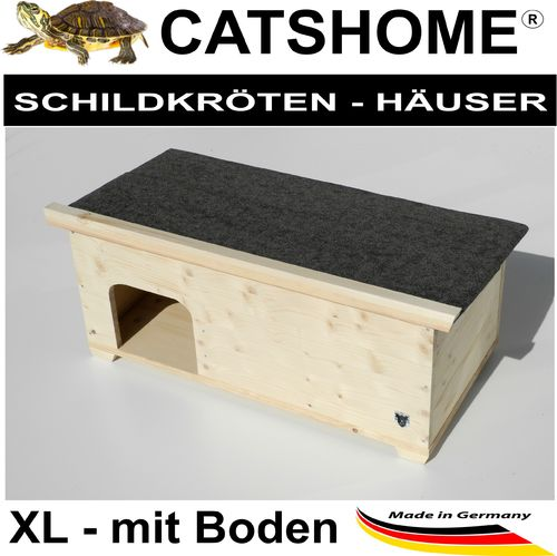 Schildkrötenhaus WOODY XL Boden 90 x 48 x 39 cm - Made in Germany