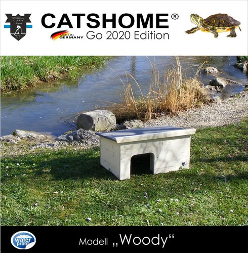 CATSHOME-GO-2020-Schildkrötenhaus WOODY 70 x 48 x 35 cm - Made in Germany